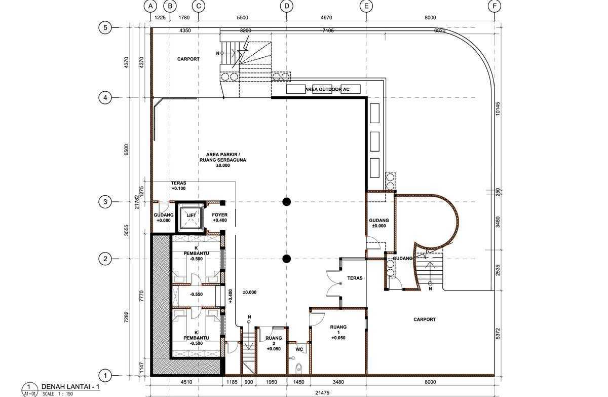 Bral Architect Kelapa Gading Residence Kelapa Gading, North Jakarta City, Jakarta, Indonesia Kelapa Gading, Jakarta Kelapa-Gading-Plan-1 Modern 25823