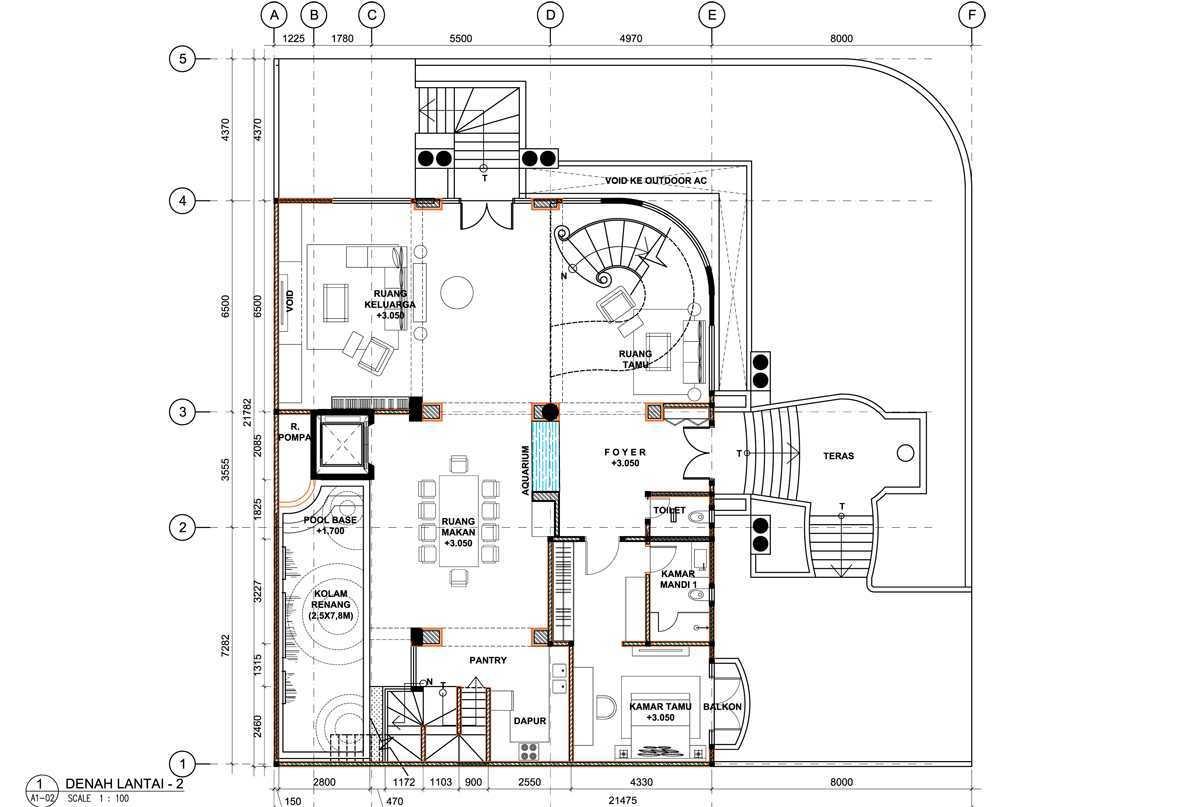 Bral Architect Kelapa Gading Residence Kelapa Gading, North Jakarta City, Jakarta, Indonesia Kelapa Gading, Jakarta Kelapa-Gading-Plan-2 Modern 25824