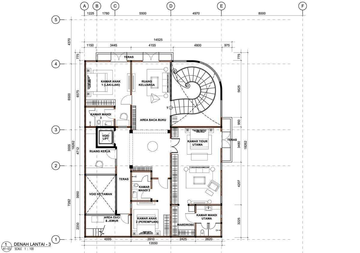 Bral Architect Kelapa Gading Residence Kelapa Gading, North Jakarta City, Jakarta, Indonesia Kelapa Gading, Jakarta Kelapa-Gading-Plan-3 Modern 25825