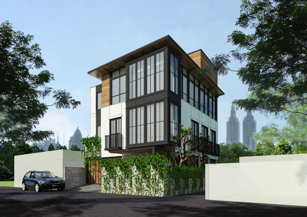 Bral Architect Tebet Residence Tebet, South Jakarta City, Jakarta, Indonesia Tebet, Jakarta Tebet-Facade-1 Kontemporer 25829