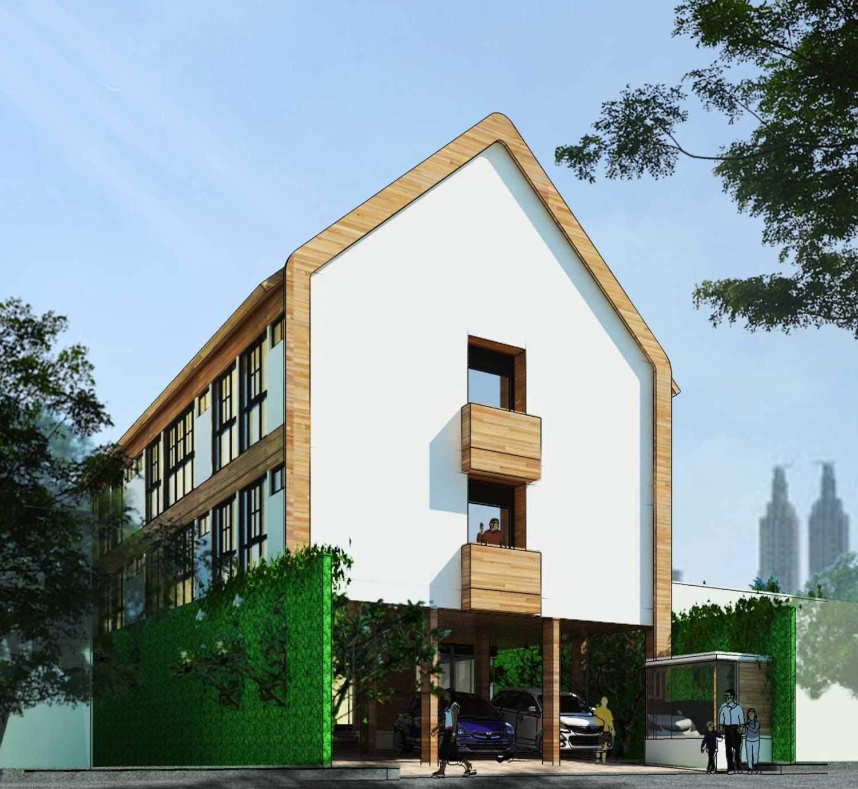 Foto inspirasi ide desain rumah skandinavia Tampak-samping oleh Indra Gunadi di Arsitag