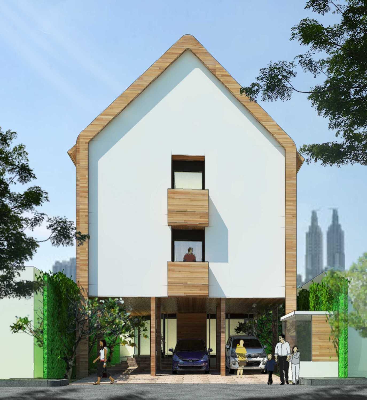 Foto inspirasi ide desain exterior skandinavia Tampak-depan oleh Indra Gunadi di Arsitag
