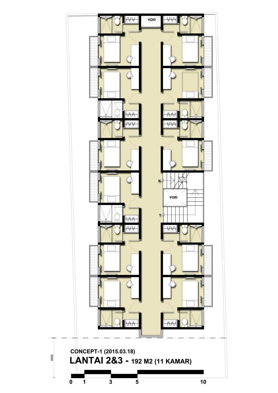 Bral Architect Rumah Kost Benhil Rt.14/rw.1, Bend. Hilir, Tanah Abang, Kota Jakarta Pusat, Daerah Khusus Ibukota Jakarta 10210, Indonesia Bendungan Hilir Jakarta Denah Kontemporer,skandinavia,modern 25837