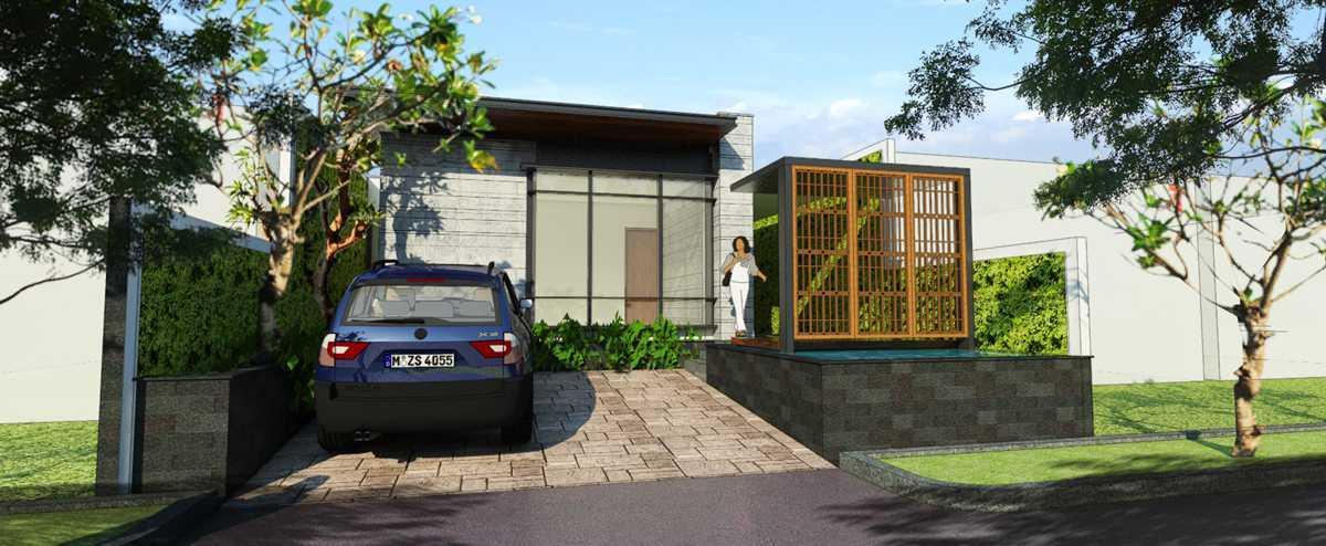 Indra Gunadi Jatiwarna Small House Jatiwarna, Bekasi Jatiwarna, Bekasi Facade-Grey-Modern Tropis 25844