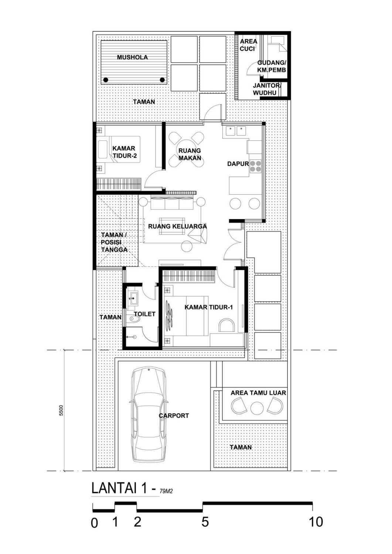 Indra Gunadi Jatiwarna Small House Jatiwarna, Bekasi Jatiwarna, Bekasi Jatiwarna-Layout Tropis 25847