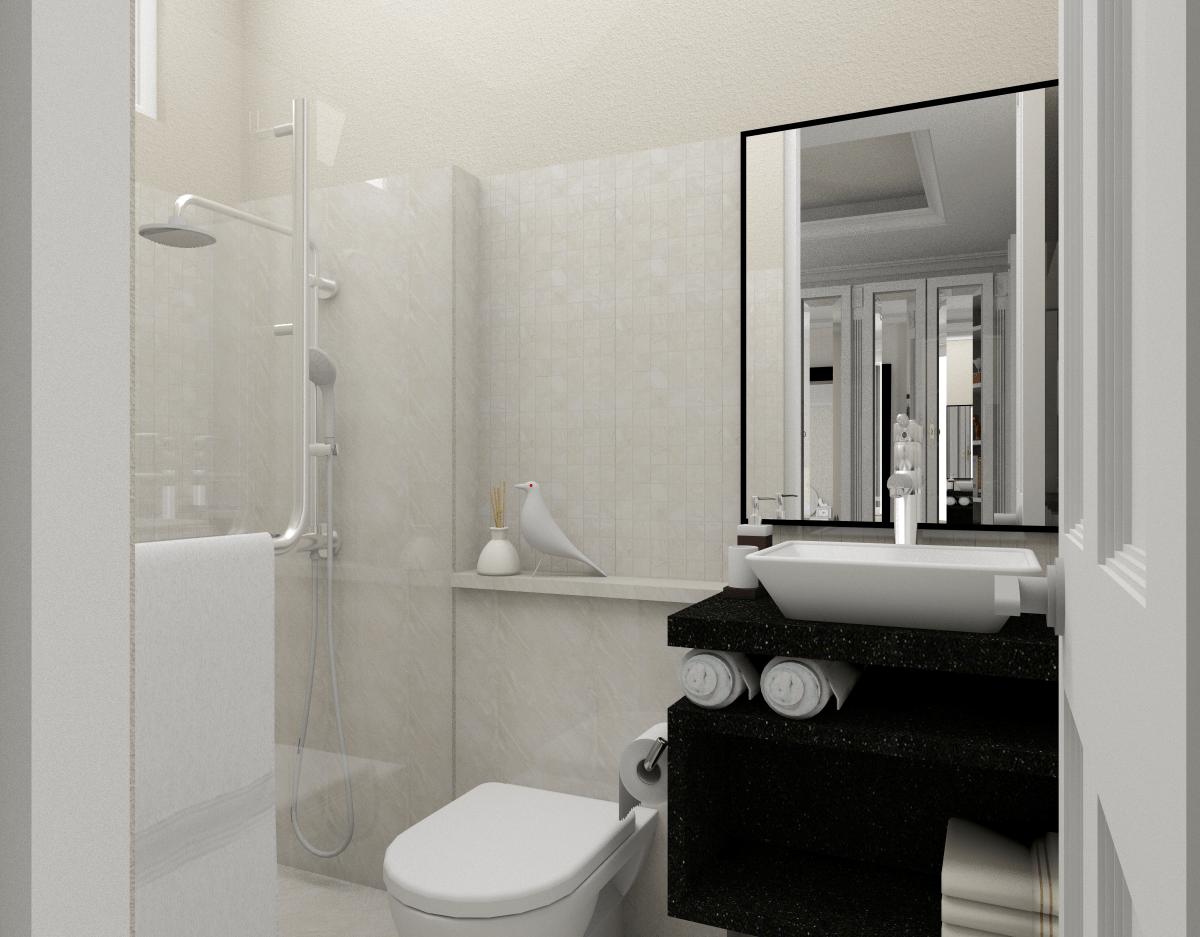 Ark.tekt Design Studio Rm House Buncit Indah, Jakarta Buncit Indah, Jakarta Bathroom Modern 25255