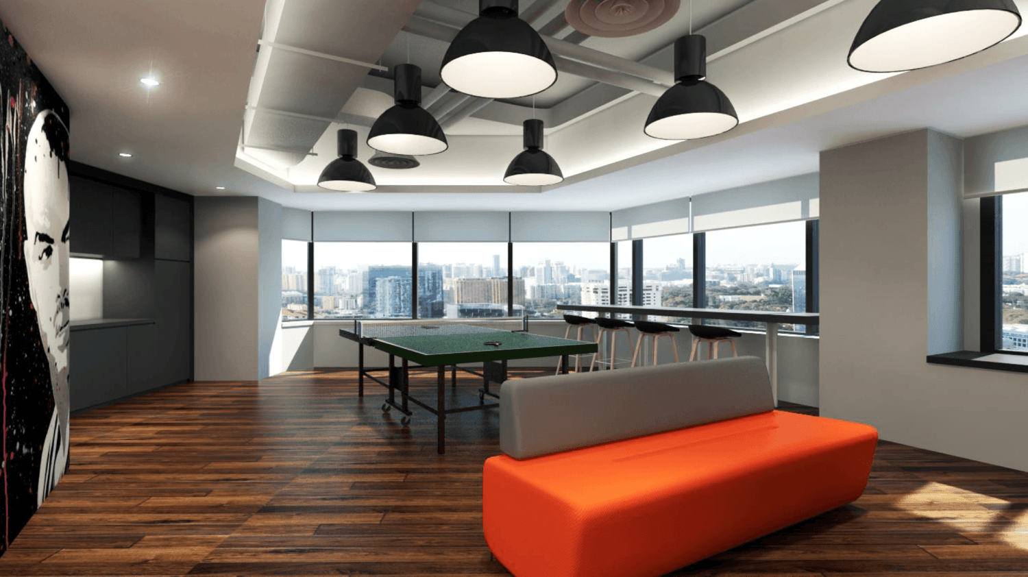 Gurkan Izci Nike Office Expansion Project Stock Exchange Building  Stock Exchange Building  Breakout/gaming Room Modern 24733