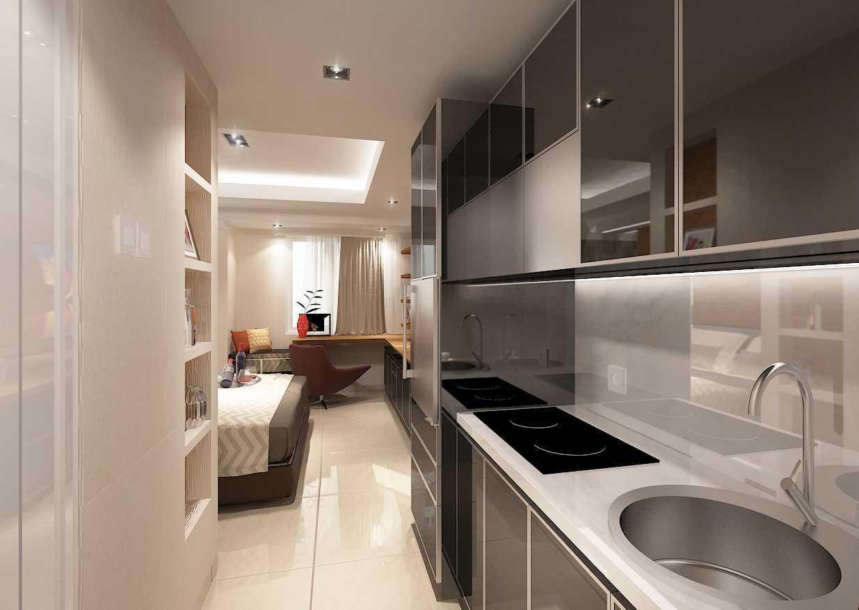 Fanny Felina Architecture & Interior Design Tanglin Studio Apartment Surabaya, Surabaya City, East Java, Indonesia Surabaya, Surabaya City, East Java, Indonesia Kitchen Room Kontemporer 36937