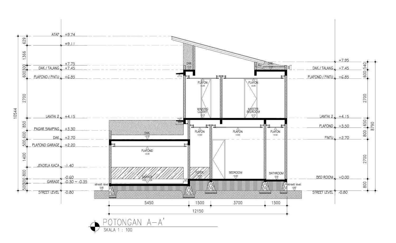 Mahastudio & Partner Cilandak House Cilandak, Jakarta Selatan Cilandak, Jakarta Selatan Section-A Tropis 25205
