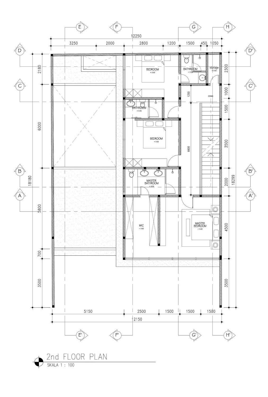 Mahastudio & Partner Cilandak House Cilandak, Jakarta Selatan Cilandak, Jakarta Selatan 2Nd-Floor-Plan Tropis 25206