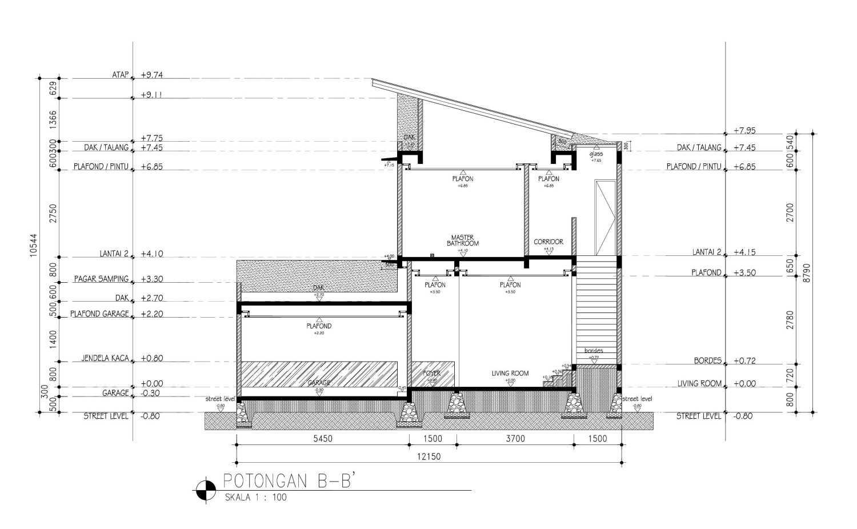 Mahastudio & Partner Cilandak House Cilandak, Jakarta Selatan Cilandak, Jakarta Selatan Section-B Tropis 25207