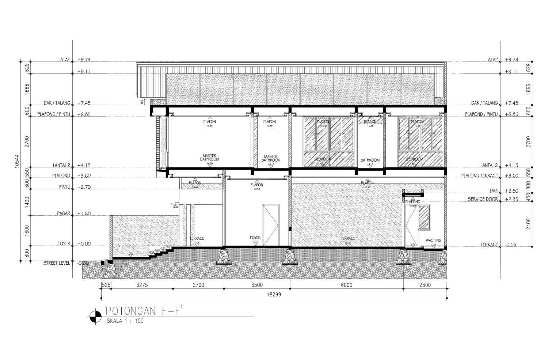 Mahastudio & Partner Cilandak House Cilandak, Jakarta Selatan Cilandak, Jakarta Selatan Section-F Tropis 25208