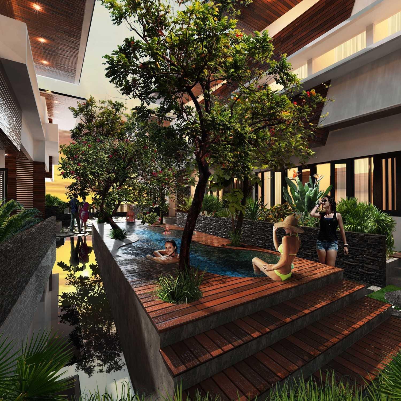 Mahastudio & Partner Bangka Townhouse Kemang, Jakarta Selatan Kemang, Jakarta Selatan Communal Garden Tropis 25237