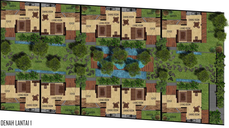 Mahastudio & Partner Bangka Townhouse Kemang, Jakarta Selatan Kemang, Jakarta Selatan Communal Garden Tropis 25238