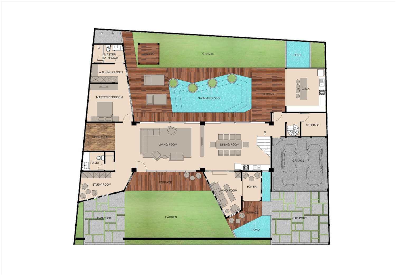 Mahastudio & Partner Oblique House Jati Asih, Bekasi Jati Asih, Bekasi 1St Floor Plan Kontemporer 25618