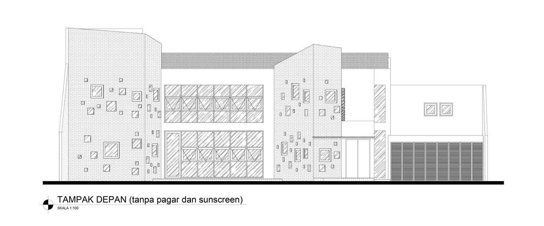 Mahastudio & Partner Oblique House Jati Asih, Bekasi Jati Asih, Bekasi Front-View Kontemporer 25619