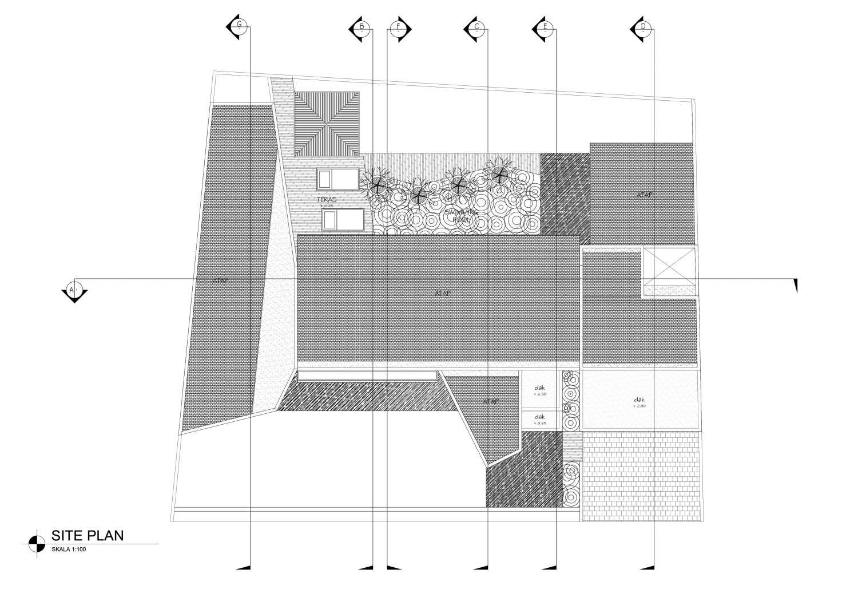 Mahastudio & Partner Oblique House Jati Asih, Bekasi Jati Asih, Bekasi Siteplan Kontemporer 25622
