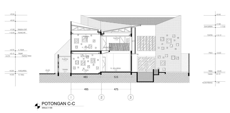 Mahastudio & Partner Oblique House Jati Asih, Bekasi Jati Asih, Bekasi Section-C Kontemporer 25624