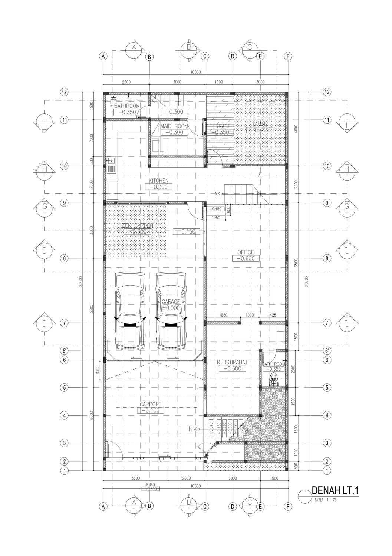 Mahastudio & Partner House At Lebak Bulus Lb. Bulus, Cilandak, Kota Jakarta Selatan, Daerah Khusus Ibukota Jakarta, Indonesia Jakarta A1-01-Denah-Lt Tropis 28351