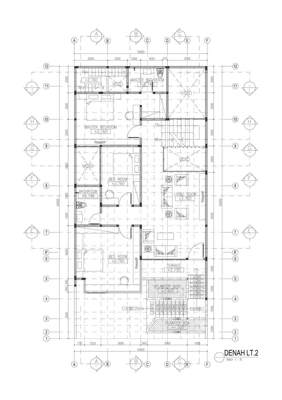 Mahastudio & Partner House At Lebak Bulus Lb. Bulus, Cilandak, Kota Jakarta Selatan, Daerah Khusus Ibukota Jakarta, Indonesia Jakarta A1-02-Denah-Lt Tropis 28352