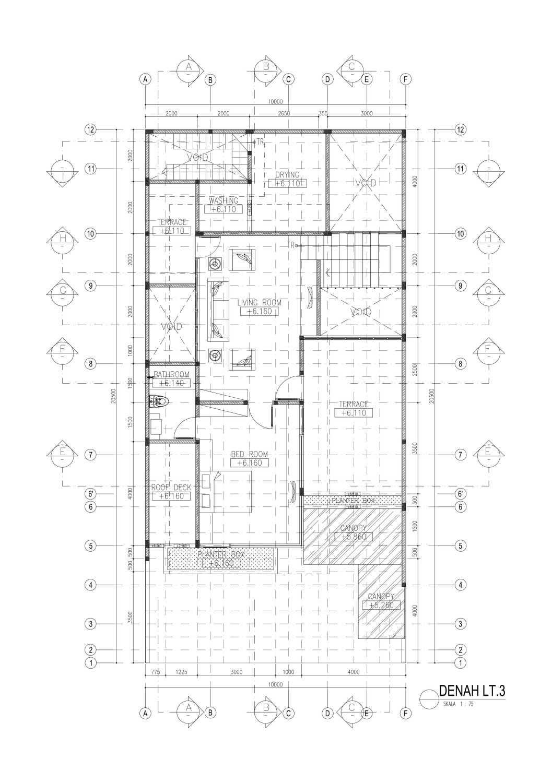 Mahastudio & Partner House At Lebak Bulus Lb. Bulus, Cilandak, Kota Jakarta Selatan, Daerah Khusus Ibukota Jakarta, Indonesia Jakarta A1-03-Denah-Lt Tropis 28353