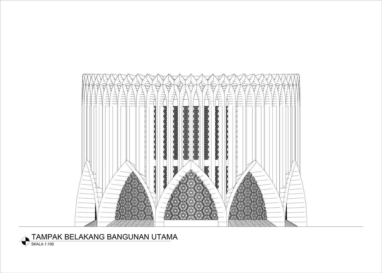 Mahastudio & Partner Masjid At Lolongok, Bogor Bogor, West Java, Indonesia Bogor, West Java, Indonesia Tampak-Belakang Modern 30900