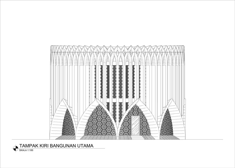 Mahastudio & Partner Masjid At Lolongok, Bogor Bogor, West Java, Indonesia Bogor, West Java, Indonesia Tampak-Samping Modern 30903