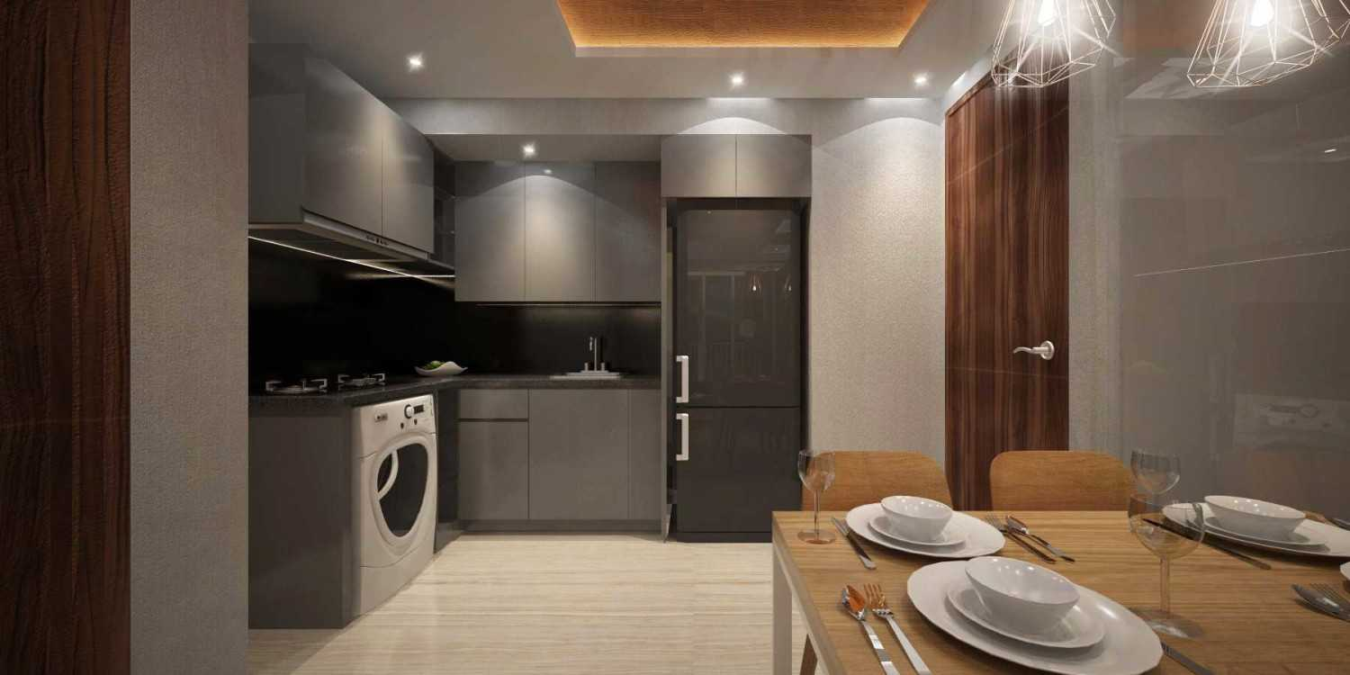 Mahastudio & Partner Show Unit Verdura Apartment Sentul, Babakan Madang, Bogor, West Java, Indonesia Sentul, Babakan Madang, Bogor, West Java, Indonesia Kitchen Kontemporer 32509