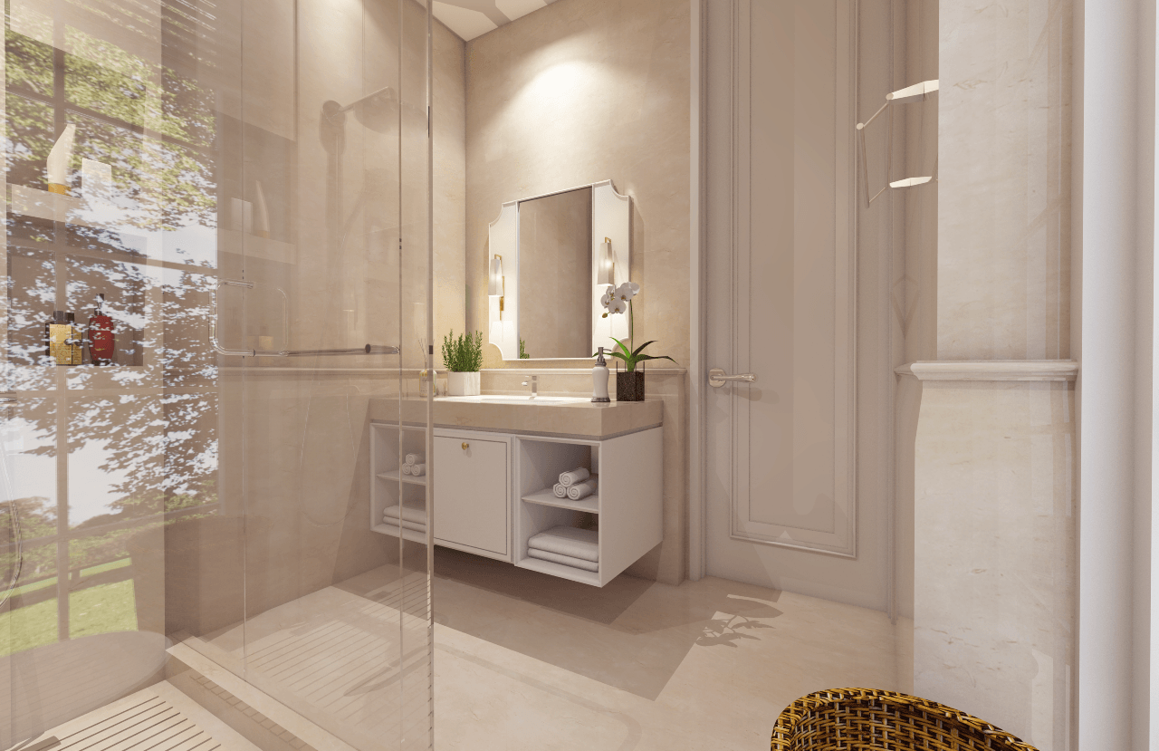 Nva Interior Taman Resort Mediterania - Pantai Indah Kapuk Pantai Indah Kapuk Pantai Indah Kapuk Guest Bathroom  25756