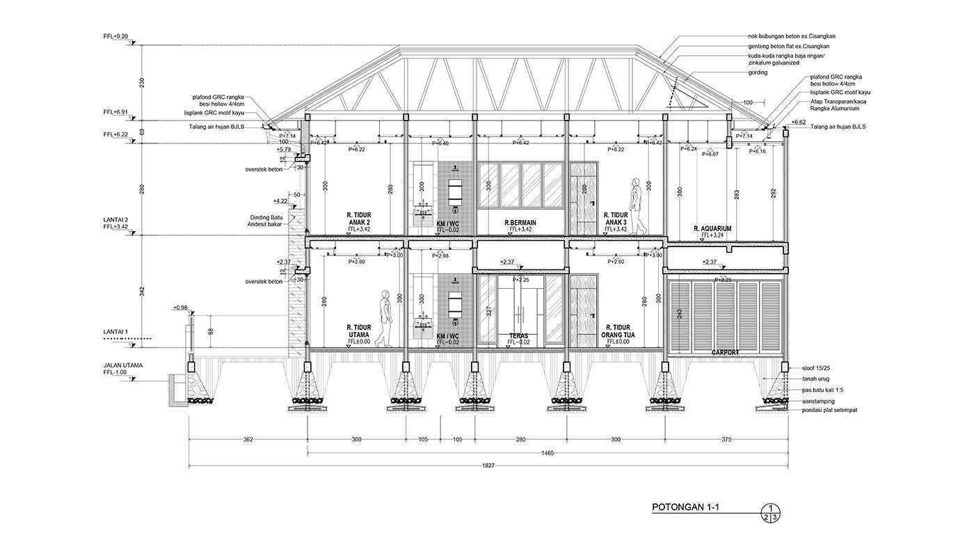 Rekabentuk Id N.y. House Bandung, Jawa Barat Bandung, Jawa Barat Potongan Modern 33505