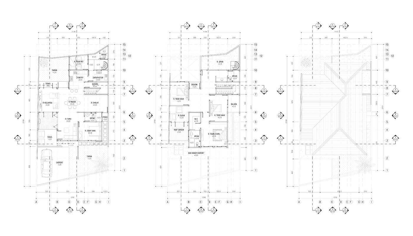 Rekabentuk Id S.t. House Kota Bandung, Jawa Barat, Indonesia Kota Bandung, Jawa Barat, Indonesia Floor & Roof Plan Modern 33548
