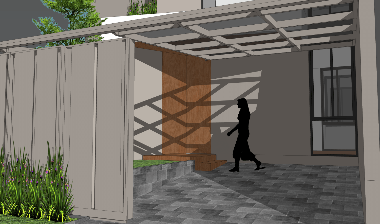 Foto inspirasi ide desain garasi modern The detail oleh PT. MODULA di Arsitag