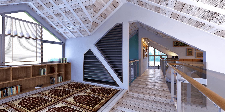 Foto inspirasi ide desain koridor dan lorong skandinavia Corridor oleh Panglima Bayuaji di Arsitag