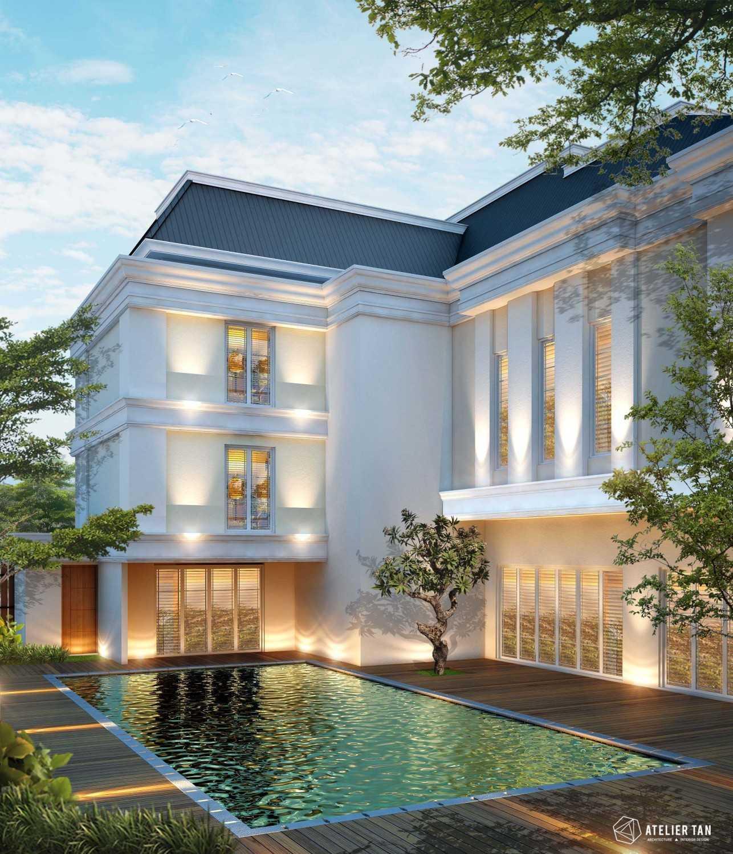 Foto inspirasi ide desain kolam klasik Pool-side oleh AtelierTan di Arsitag