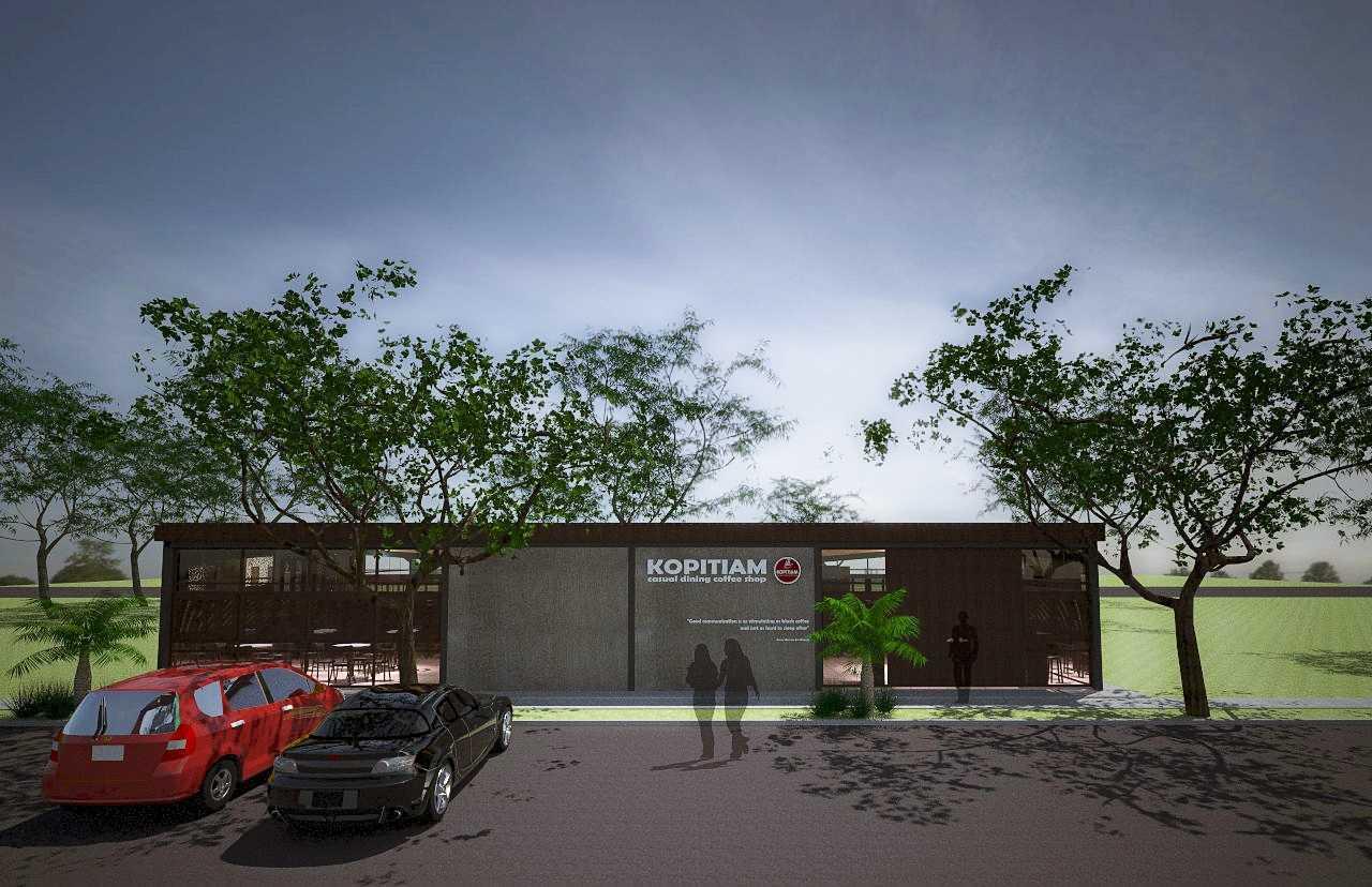 Foto inspirasi ide desain restoran tropis Exterior oleh limpad sudibyo di Arsitag