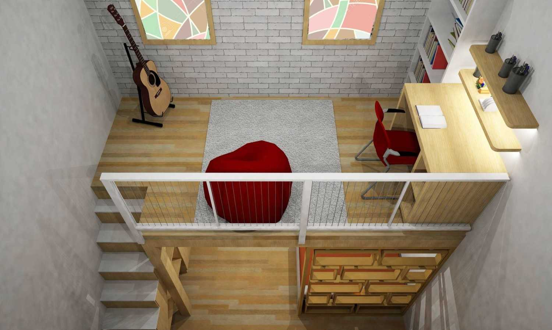 Wood Me Up Studio Semi Industrial-Minimalist Mezzanine Bedroom Bandung Bandung Top-View-Mezzanine  28413