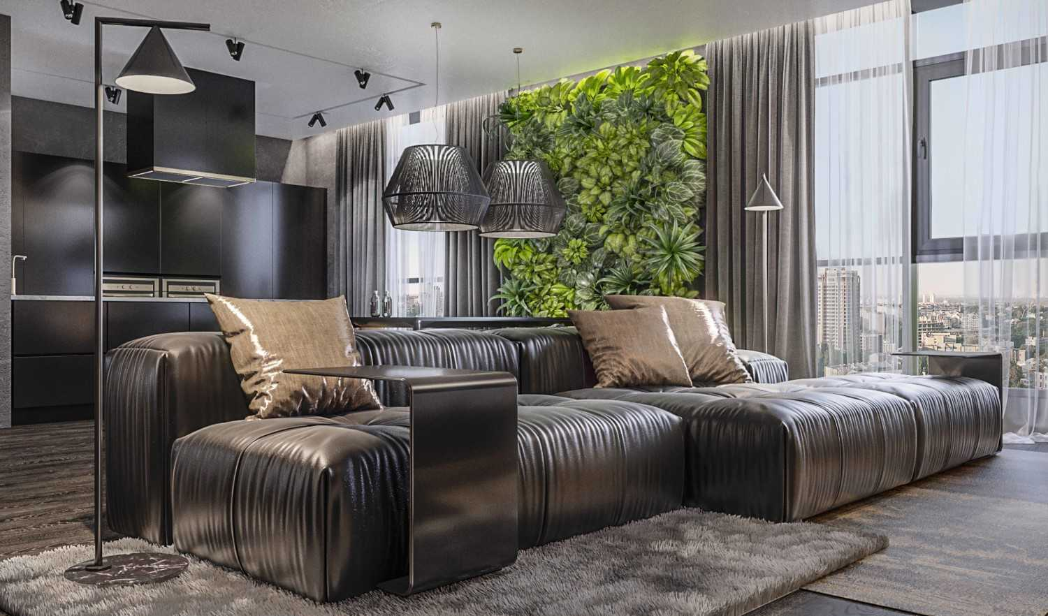 Dmitriy Myakota Stylish Men's Apartment In Kiev Kiev Kiev Living Room  29270