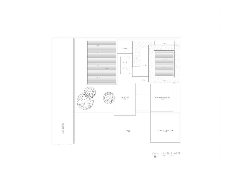 Amorta Design Studio Rumah F Manokwari Manokwari Denah-Rumah-F-04-Atap  29375