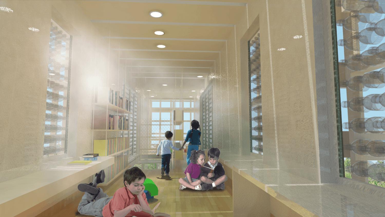 Foto inspirasi ide desain perpustakaan tropis Library-1 oleh BSDS di Arsitag