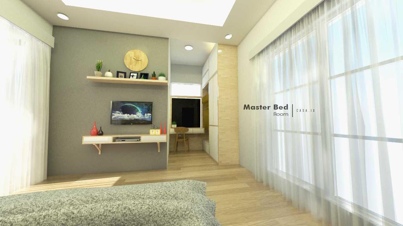 Casa.id Architecture & Design Dyg01 Pekanbaru, Kota Pekanbaru, Riau, Indonesia Pekanbaru, Kota Pekanbaru, Riau, Indonesia Master Bedroom Tv Cabinet Contemporary 40569