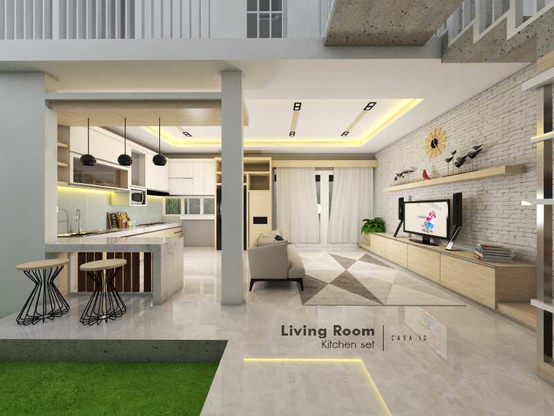 Casa.id Architecture & Design Dyg01 Pekanbaru, Kota Pekanbaru, Riau, Indonesia Pekanbaru, Kota Pekanbaru, Riau, Indonesia Family Room And Kitchen Minimalist 40571
