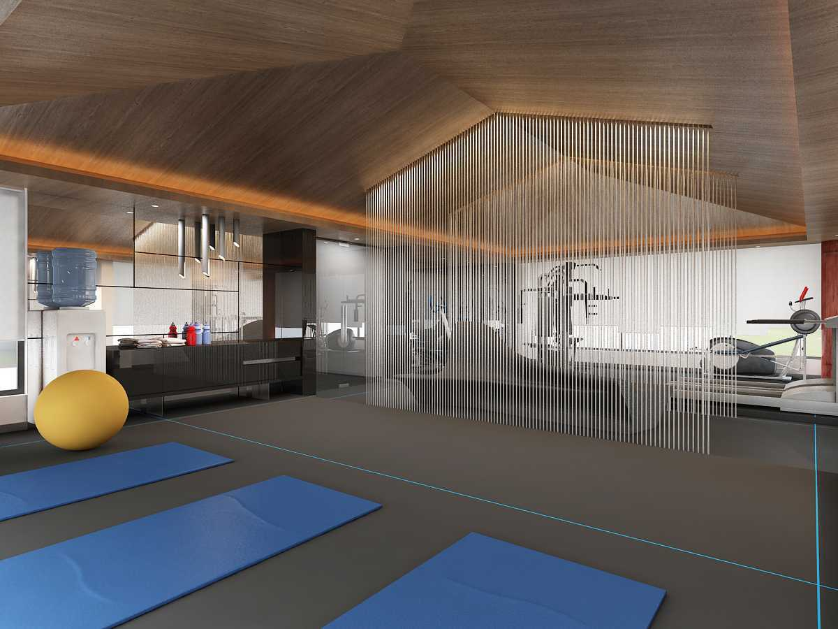 Foto inspirasi ide desain gym industrial Gym-c1 oleh Saka Design Lab di Arsitag