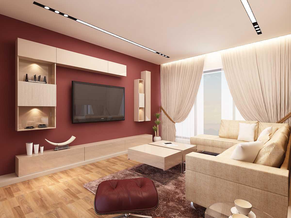 Foto inspirasi ide desain apartemen A-m-tv-roomc2 oleh Saka Design Lab di Arsitag