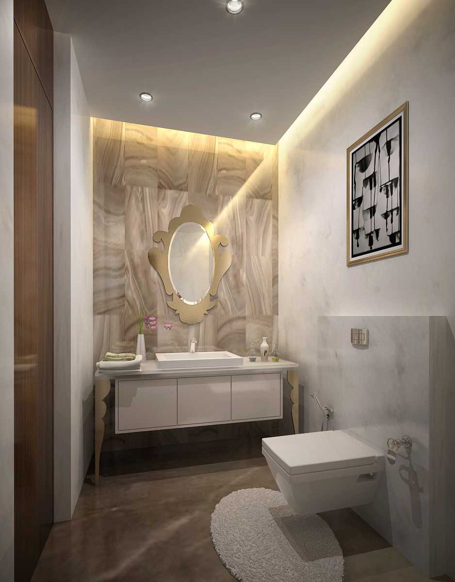 Saka Design Lab Private Residential _ 2 Dhanori Lohagaon Rd, Kutwal Colony, Lohgaon, Pune, Maharashtra 412105, India India Daughters-Toilet-Cam-02 Modern 35001