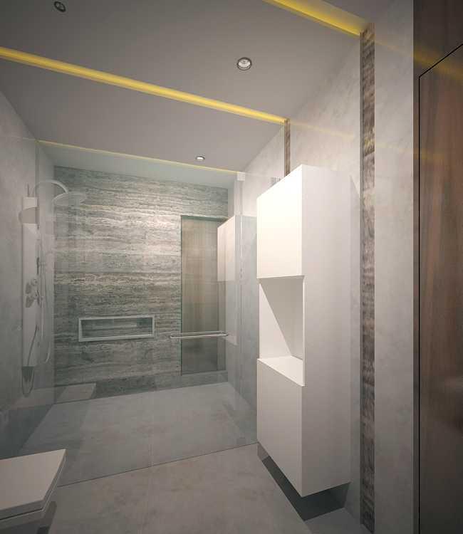 Saka Design Lab Private Residential _ 2 Dhanori Lohagaon Rd, Kutwal Colony, Lohgaon, Pune, Maharashtra 412105, India India Guest-Toilet-01-Cam-02 Modern 35006