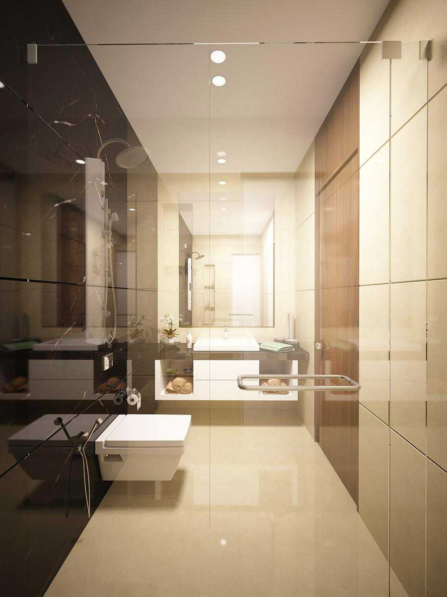 Saka Design Lab Private Residential _ 2 Dhanori Lohagaon Rd, Kutwal Colony, Lohgaon, Pune, Maharashtra 412105, India India Guest-Toilet-02-02 Modern 35007