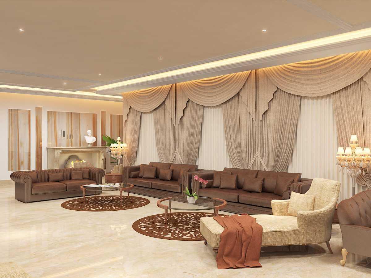 Foto inspirasi ide desain apartemen kontemporer Jhlp-hyderabad-living-r-c2 oleh Saka Design Lab di Arsitag