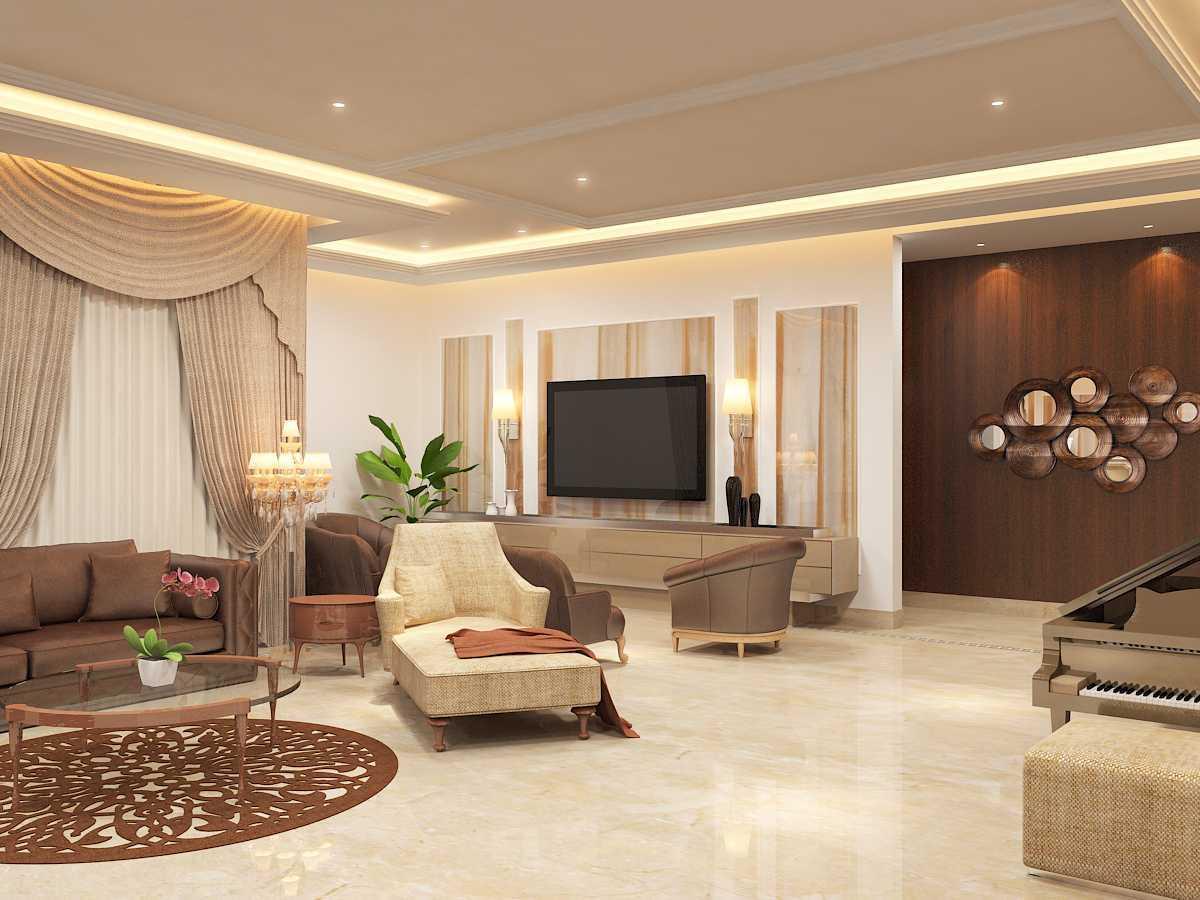 Saka Design Lab Private Residential _ 3 India India Jhlp-Hyderabad-Living-R-C4 Kontemporer 35015