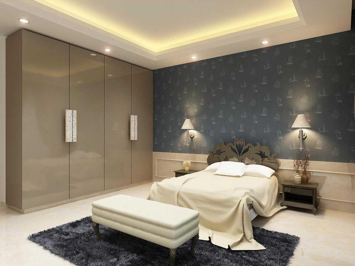 Saka Design Lab Private Residential _ 3 India India Bedroom-3-C1-Rev3 Kontemporer 35025