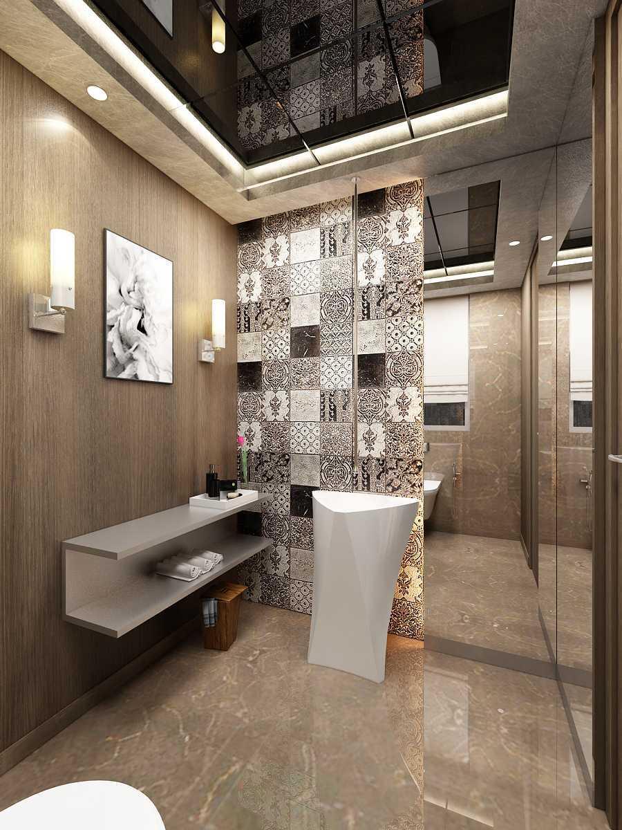 Saka Design Lab Private Residential_Freelance India India Toilet-C2 Modern,kontemporer 35423
